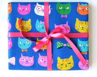 Wrapping Paper Cats Gift Wrap - Birthday wrapping paper