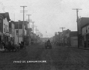 Snohomish, Washington - View of Front Street - Vintage Photograph (Art Print - Multiple Sizes Available)