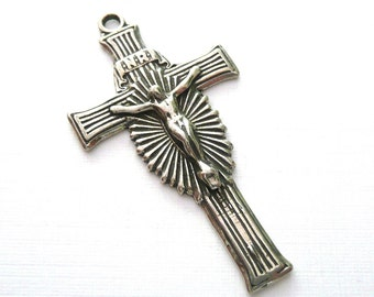 Reproduction Sterling Silver Rosary Crucifix Supplies