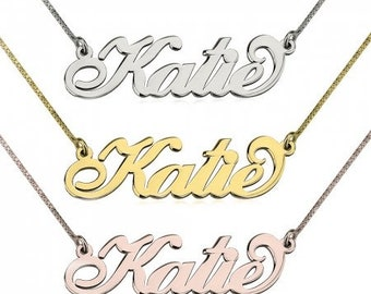 Curly Name Necklace