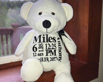 18 inch stuffed white bear