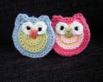 Little Owl Applique - PDF Crochet Pattern - Instant Download