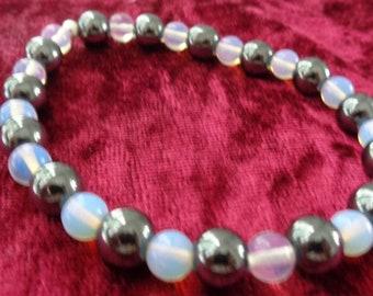 Opalite and Hematite bracelet