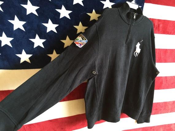 Lauren Sweater Polo Colour Zip 90s Polo Ralph 1933 Logo Pullover Half Vintage Jumper Black Polo 34 Shirt Ski Sweatshirt Big Polo 4twnPnqSZx