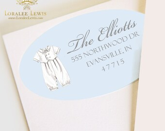 Blessing Blue Address Labels by Loralee Lewis