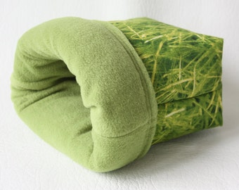 """cuddle bag / cosy sleeping bag / cuddle sack """"grass"""" for guinea pigs"""