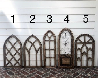 Wood Arch - Simply Inspired - Home Decor - Wall Decor - Cathedral Window - Wood Window -