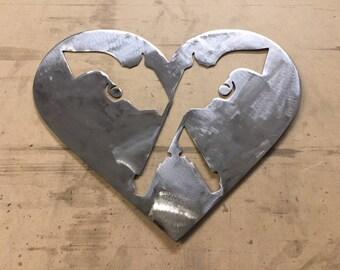 Pistol Heart- Metal Sign