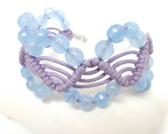 Wave bracelet with beads