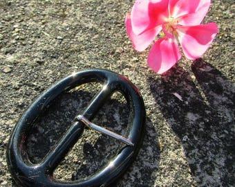 Belt buckle vintage new acrylic 70 x 54 mm
