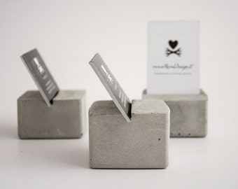 Concrete business card holder