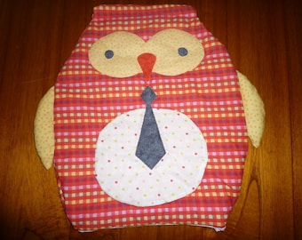 Pajama bag, useful and decorative OWL-shaped.