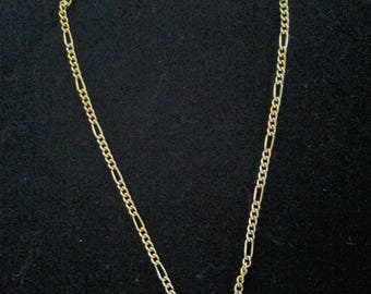 Vintage Gold Plated Figaro Fob Chain
