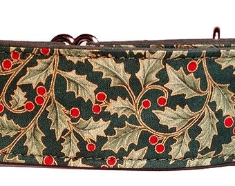 Green on Green Holly Martingale Collar-