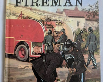 Retro Children's Ladybird Book People at Work - The Fireman