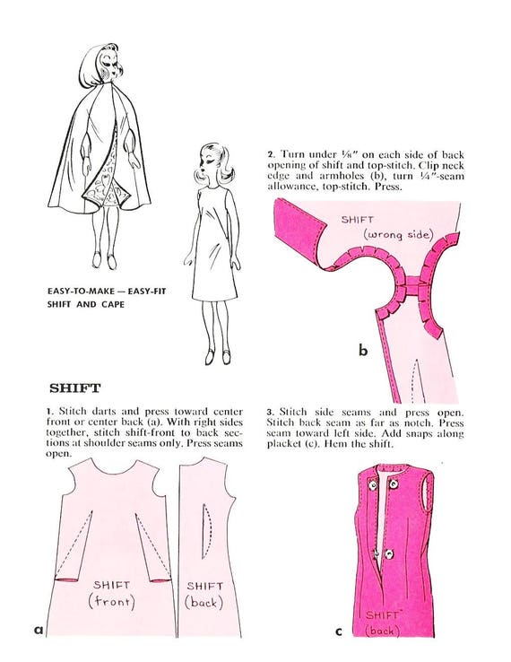 Fashion Doll Pattern, Barbie Clothes, Vintage Pattern, PDF Pattern ...