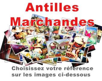 West Indies market cards-print poster art ydan.fr image