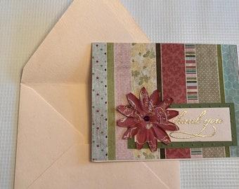 Fancy Handmade Thank You Card - Handmade Thank You Card - Handmade Card - Fancy Handmade Card - Thank You Note