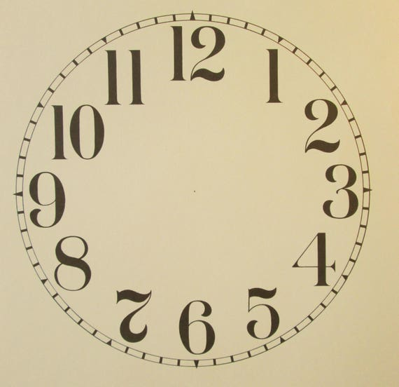 9 Inch Heavy Paper Reproduction Clock Dial for your Antique / Vintage / New  Clock Projects + Art Projects - Steampunk Art