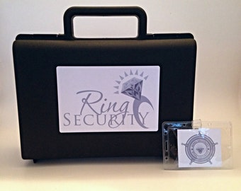 Ring Security Briefcase and Badge (Silver) -- ring bearer gift, pillow alternative, ring bearer, bling security
