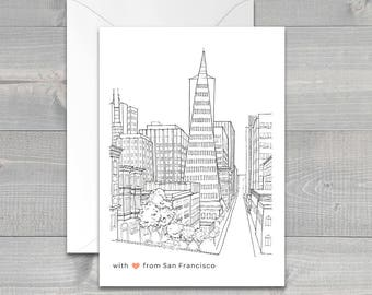 San Francisco Transamerica Pyramid Greeting Card