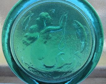 Cape Cod Pressed Art Glass Mermaid suncatcher Ornament