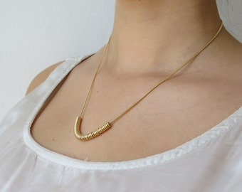 Loops necklace, gold filled chain, gold filled necklace, delicate necklace