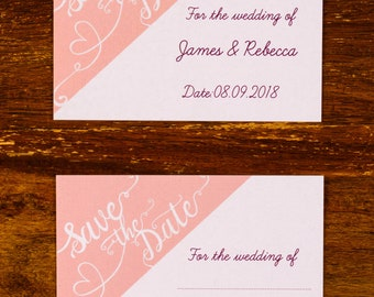 Shimmering Save The Dates // A6 Save The Date Cards