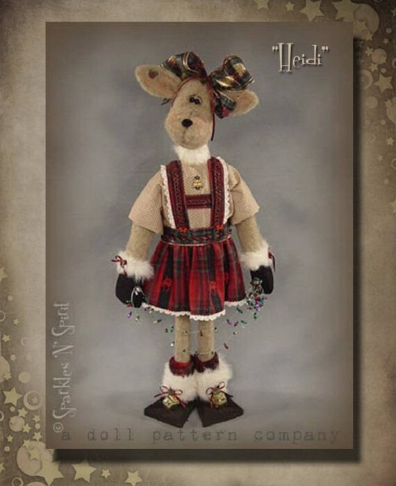 "Doll Kit: ""Heidi"" - 26"" Reindeer -  for doll patterns by Sparkles n Spirit"