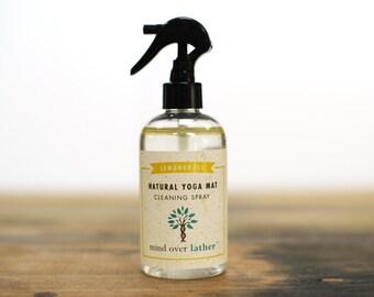 Lemongrass Natural Yoga Mat Cleaner, 8oz