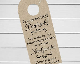Wedding Door Hanger, Custom Hotel Door Hangers, Destination Wedding Welcome Bag  (DH-007-KR)