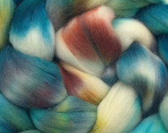 Polwarth Wool Roving (Combed Top) Hand Dyed in Life, the Universe, and Everything  4oz