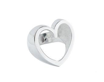 HEART handmade sterling silver ring