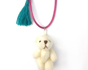 easter necklace - girl necklace - kids necklace - kids jewelry - girl gift - bear necklace - cute necklace - trendy jewelry - cute jewelry