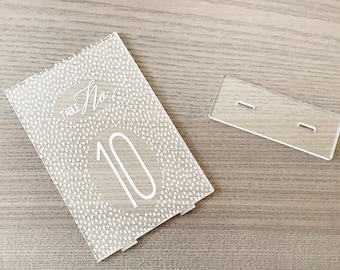 Laser Cut Etched Acrylic Table Number,Polka Dot,Wedding Decor,Party Decor,Perfect Weddings,Gold Wedding Decor,Acrylic Wedding Signs,Custom