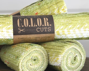 "Color Cuts by Moda ~ Sprouts ~ 10"" Squares"