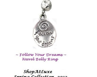 FOLLOW YOUR DREAMS Wise Words Body Jewelry From ShopAtLuxe