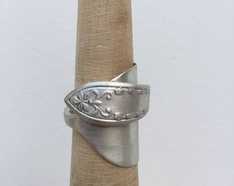 Sterling Silver Antique Spoon Ring  - Size M
