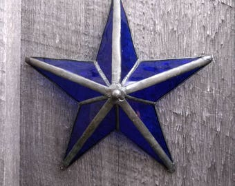 Stained Glass 3D Star Sun Catcher
