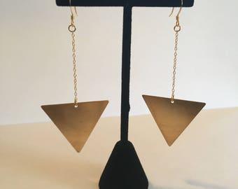 Triangle drop earring