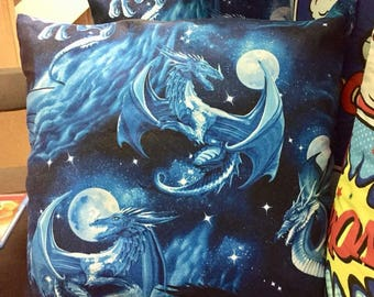 Blue Dragon Themed Cushion