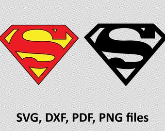Superman ( svg, dxf, pdf, png) Clipart svg Files cutting vector superman logo, silhouette, branding, image, clip art
