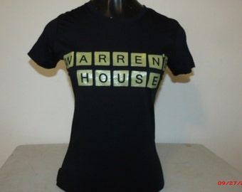 "Warren""s House ladies shirt in black.  Next Level brand in 65 percent polyester/35 percent cotton"