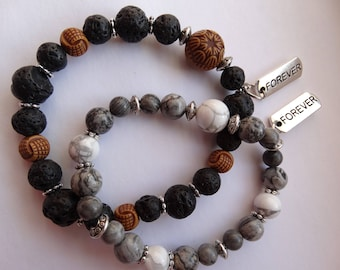 Bracelets for LOVERS in the style of rock music