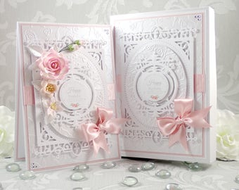 Boxed Birthday Card, Pink Handmade Birthday Card, Personalised Birthday Card, 18th/21st/30th/40th/50th/60th/70th/80th/90th Birthday Card