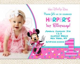 Minnie mouse 1st birthday invitations minnie invitations minnie mouse 1st birthday invitations minnie invitations minnie mouse first birthday invitations minnie filmwisefo