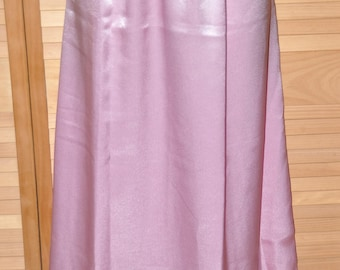 Saree (Sari) style slip / petticoat in soft pink satin, soft and silky, feminine, long length, Sissy Lingerie