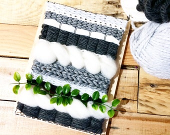 Gray and white wall weaving