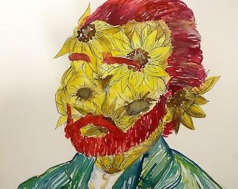 Van Gough Sun Flowers