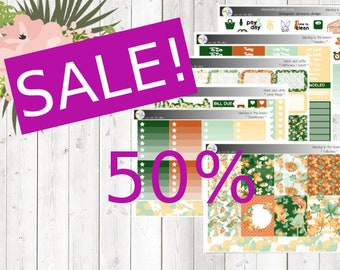 SALE - weekly kit - dancing in the leaves (Erin Condren and Happy Planner Stickers)